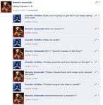 Naruto and Sasuke on Facebook by my-heart-is-dark