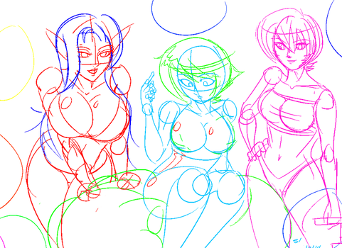 Balloon Gals Preview by Snow-chanDA