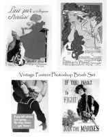 Vintage Posters Photoshop Set by PhoenixWildfire