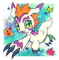 gomamon by extyrannomon