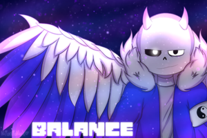 Commission #63: Balance Wallpaper by NatsuneNuko