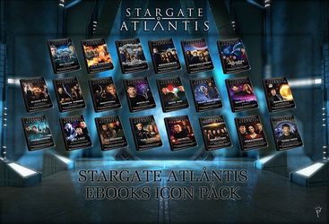 Stargate Atlantis eBooks Icon Pack by P-DB