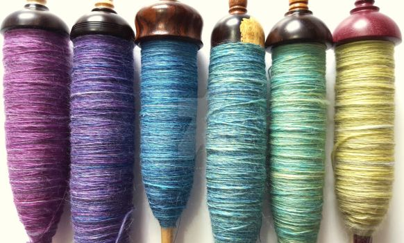 Pretty Spindles All In A Row by FearlessFibreArts