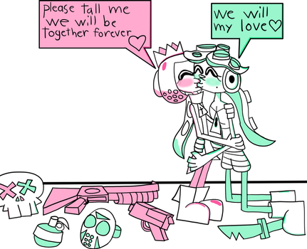 Pearl And Marina kissing by BloodHaven666