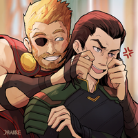 Thor x Loki by Damare