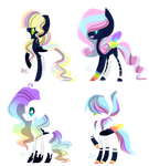 MLP Bred Adopts - Rainbow Night Foals (3/4 Open) by ProjectBlastArt
