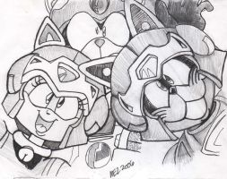 Samurai Pizza Cats Trio by MEL-Dungeon