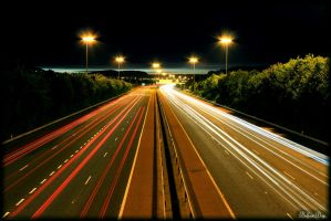 Belfast Motorway Long Exposure by BELFASTBAP