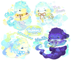 ~AUCTION~ Water Tukou Batch by moonbeani