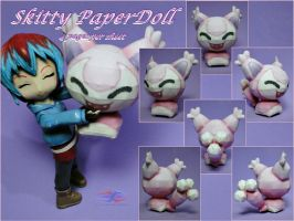 Life-size Skitty Paperdoll by BRSpidey