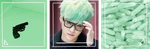 Dark Mint Suga Aesthetic Divider by 6BTs