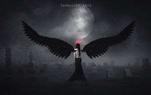 The angel without light! by CharllieeArts