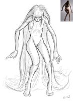 Creepy figure with all the hair by hyrelynk