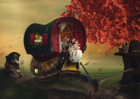 Gypsy caravan by Kiorsa