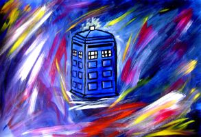 TARDIS in space by luartandcomics