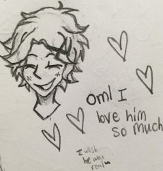 First Yoosung drawing attempt by AbsoluteNerd10099