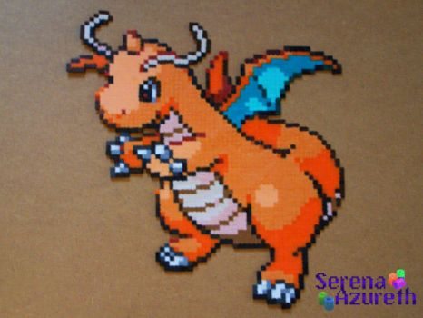 Pokemon Dragonite Bead Sprite by SerenaAzureth