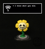 Flowey is always watching you by Sunflowmon