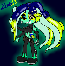 Sanitized Octoling OC Zomb13 by Glitched-Irken