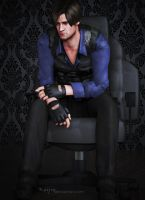 Leon S. Kennedy: I know you run away anyway.. by Keyre
