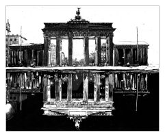 Brandenburg Gate Day and Night by RoodyN