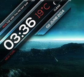 Overlay Clock HD for xwidget by Jimking