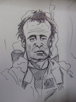 Ghostbusters Dr Peter Venkman toon sketch by Ditch-scrawls