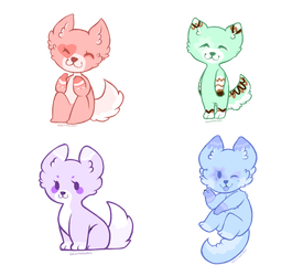 Quick Adoptables ~ 2/4 OPEN by Skyflight13