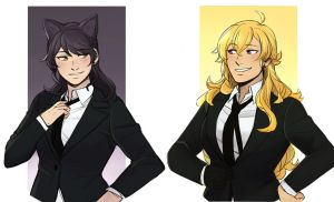 Bees in suit by NaitouRSE