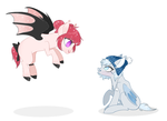 Blood Garter and Silver Puff by pixiehannah