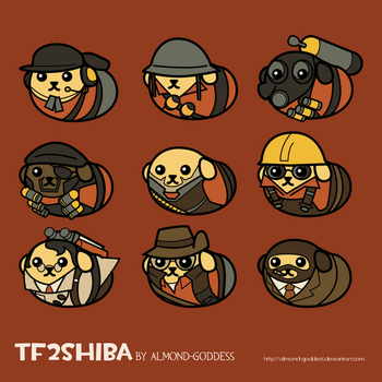 TF2Shibas by almond-goddess