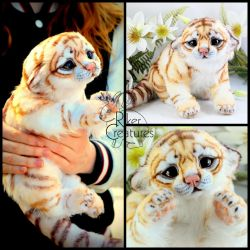 Golden Tiger Cub by RikerCreatures