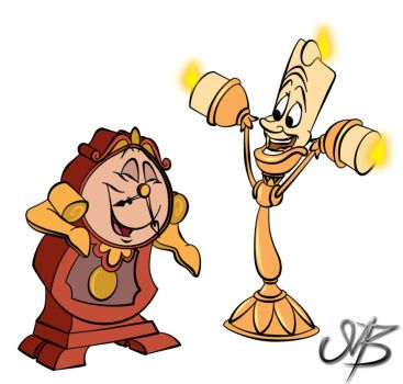 Toonbaboon 200 28 Lumiere And Cogsworth By Venonsting