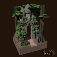 Temple [LowPoly] by Mezaka
