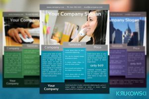 Corporate Flyer Template by mkrukowski