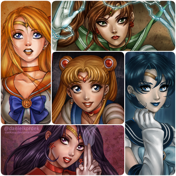 Sailor Moon Squad by daekazu