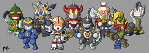 MMPR Zords by MattMoylan