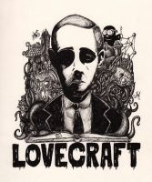Lovecraft 125th Birthday Tribute by inkarts