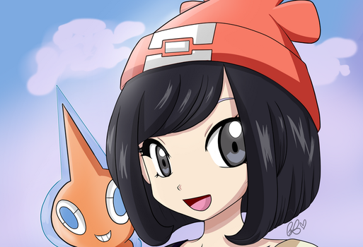 Moon and Rotom Anime Style By CandeArts by Cande7