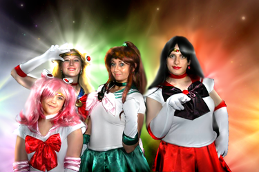 Sailor Scouts by blushingmoonwisp