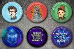 Doctor Who Buttons by Tsubasa-No-Kami