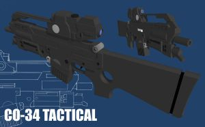 CO-34 Tactical Assault Rifle by bigdoo