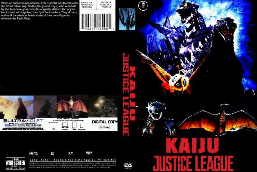 Kaiju Justice League DVD cover by SteveIrwinFan96