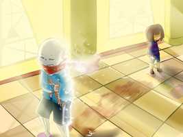 So long... Sans... *Genocide* by Caguiat233