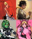 Assorted Fighting Game Gals by OverlordJC