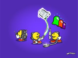 PacMan e Ghostbusters by guibarreiro