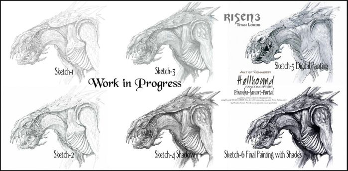 Risen3 Titan Lords  Hellhound Workflow by ArthusokD