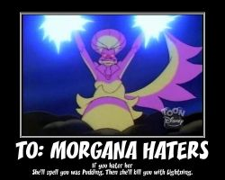 DW Motivator: To Morgana Haters by RoseMary1315
