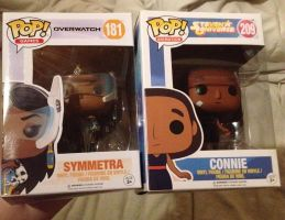 SU And Overwatch - Symmetra POP And Connie POP by The-Panda-Lover
