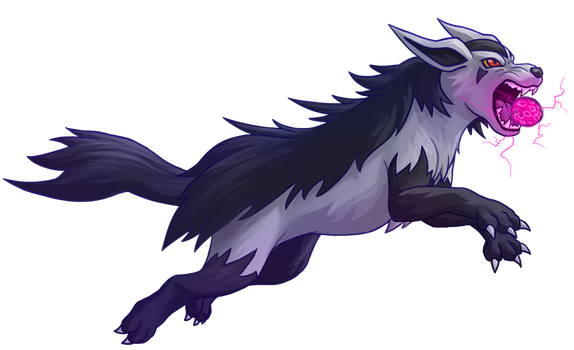 Mightyena - Poison Fang by AuroraLion